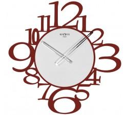Orologio da parete moderno rosso, rexartis iron