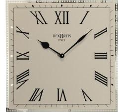 orologio da parete classico rexartis classic tortora chiaro