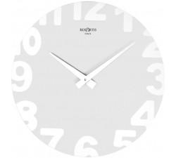 orologio da muro moderno rotondo rexartis metropolitan bianco