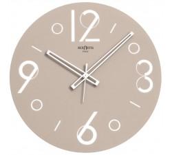 orologio da muro rotondo in vetro rexartis point tortora chiaro