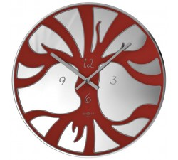orologio da parete rotondo rexartis life rosso