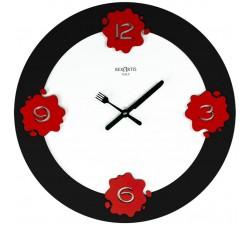 orologio da cucina in legno