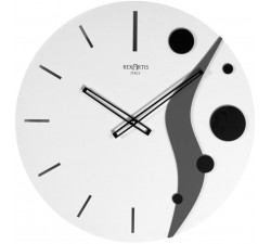 Round white wall clock roundabout planet rexartis
