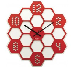 RED WALL CLOCK HONEY REXARTIS