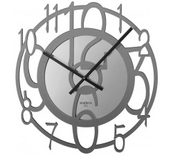modern design grey wall clock