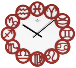 red wall clock