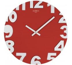 orologio da parete rosso rotondo