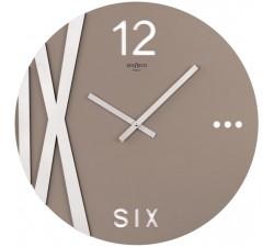 orologio da parete rotondo tortora rexartis
