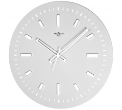 elegant wall clock and white linear design