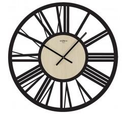 orologio da parete grande imperial nero olmo chiaro