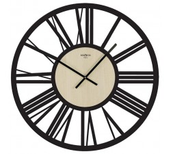 large wall clock imperial black olmo clear