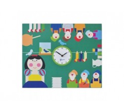 orologio cameretta bambini pirondini biancaneve