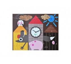 orologio cameretta bambini pirondini i tre porcellini