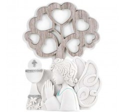 tree of life with angel bomboned baby communion boy