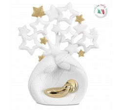 nativity sacred family with tree of life and stars