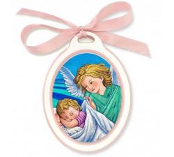 sopraculla con immagine angelo custode calistini