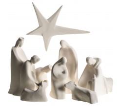 presepe completo con stella sette pezzi adorazione ceramiche centro ave