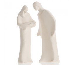 sacred statuine family in clay ceramic clay