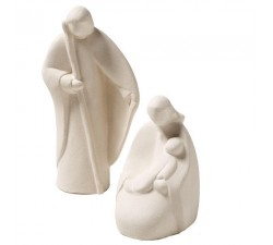 statuine presepe nativity stylized, clay, ceramic center ave