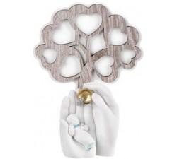 albero della vita bomboniera nascita bimbo