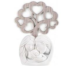 bomboniera nascita sacra famiglia con albero della vita