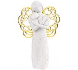 statuina angelo con cuori idea regalo nascita bomboniera battesimo