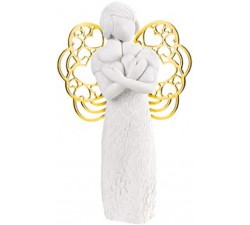 statuette angel with hearts idea gift birth bomboned baptism