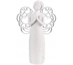 statuette angel praying in marble, giving birth