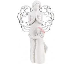 statuina angelo con bambina