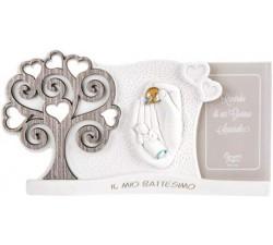 portafoto neonato con albero della vita idea regalo nascita battesimo