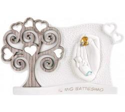 bomboniera battesimo con albero della vita