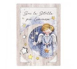 quadretto angelo custode bimbo angeli dei sogni stella bongelli