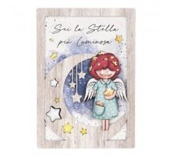 quadretto angelo custode bimba angeli dei sogni stella bongelli