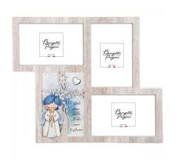 portafoto multiplo bimbo in legno collezione angeli dei sogni