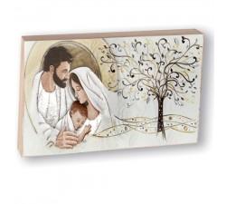 Quadretto Sacra Famiglia con Albero della vita