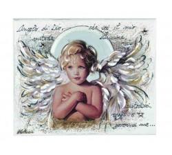 quadro pannello decorativo bimbo con preghiera angelo di dio