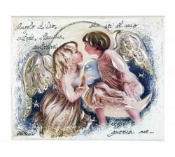 quadro pannello decorativo angeli con preghiera