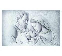 pannello in legno capoletto capezzale sacra famiglia