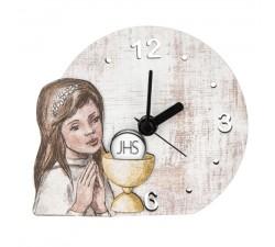 orologio da tavolo prima comunione bambina