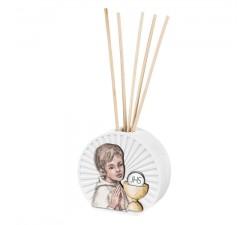 profumatore per ambiente con bastoncini prima comunione bambino
