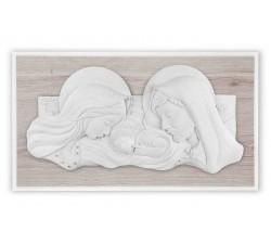 sacra famiglia quadro capezzale capoletto legno rovere