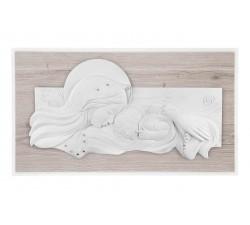 madonna con bambino quadro capezzale capoletto legno rovere