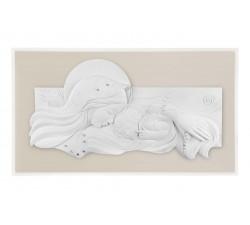 madonna con bambino quadro capezzale capoletto legno nocciola