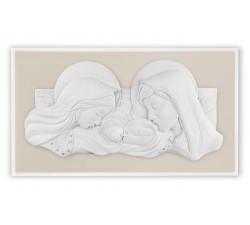 sacra famiglia quadro capezzale capoletto legno nocciola