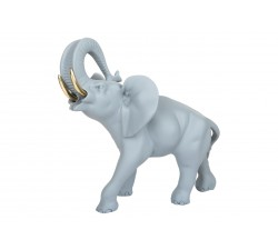 elefante porta fortuna color celeste carta da zucchero
