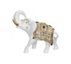 elefante portafortuna bianco e oro