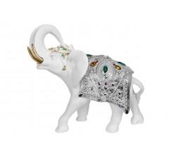 elefante portafortuna bianco e argento