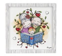idea regalo per i nonni, quadretto l'amore dei nonni ha radici profonde