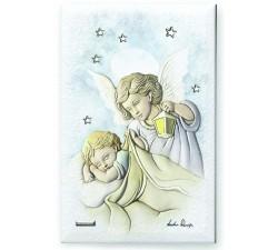 quadretto angelo custode regalo battesimo leader argenti