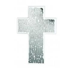 crocifisso da parete moderno con preghiera padre nostro